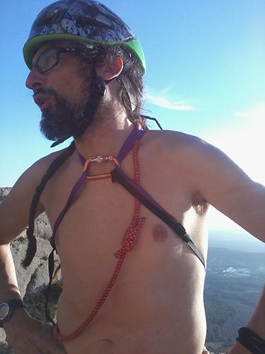Xavi, compi de escalada