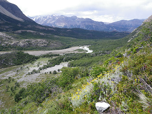 Vistas sobre el valle y el río Eléctrico
