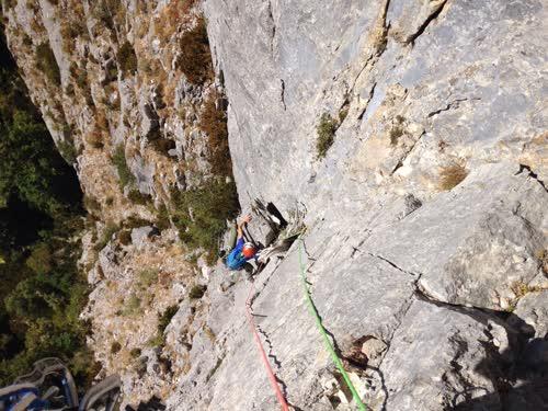 Helen escalando el L3