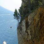 Vista lateral del acantilado