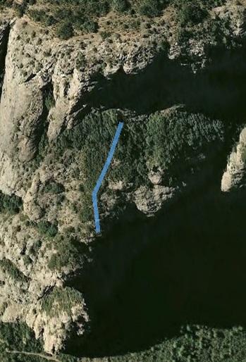 Los 60 metros a recorrer hasta la siguiente pared