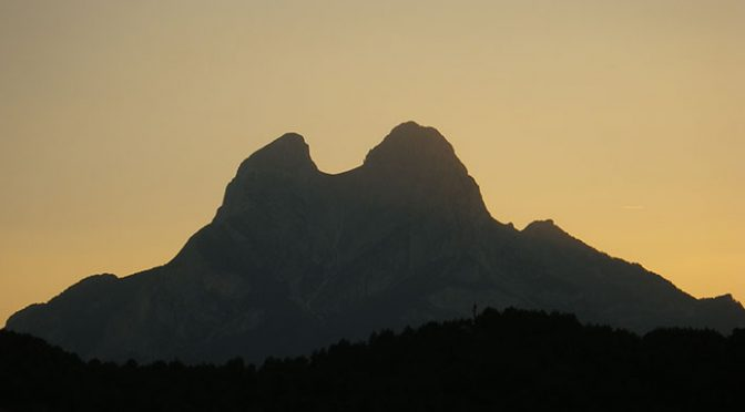 Vía del Guarda. Pedraforca