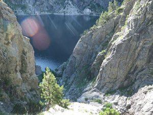 Foto sacada desde el parabolt de pie de vía