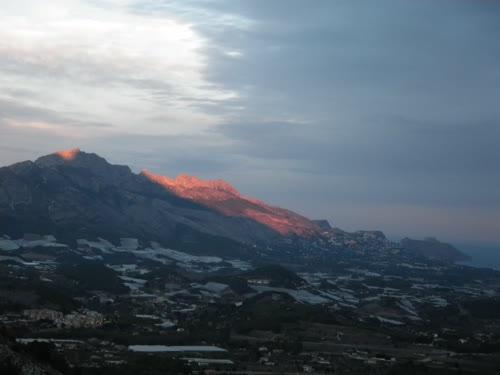 Vistas sobre la sierra de Bernia