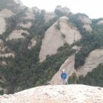 Helen escalando el último largo