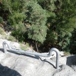 Hierro para no dañar la roca en el rápel
