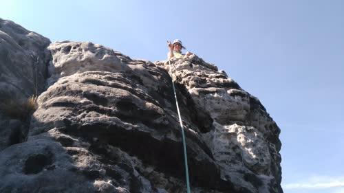 Helen en la cima del Wstlicher Feldkopf