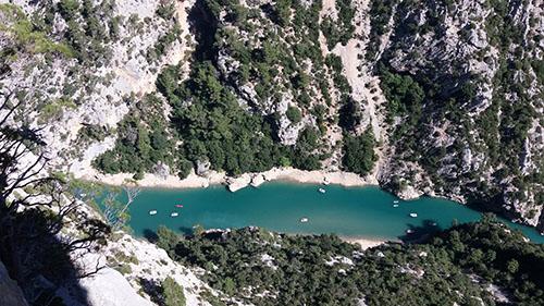 Vistas sobre el río Verdon