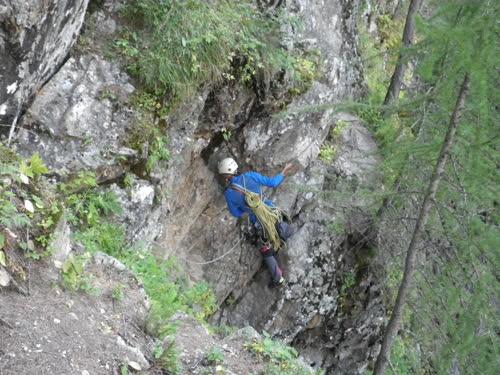 Cuerda fija durante el descenso