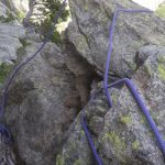 Liada de cuerdas en el rápel