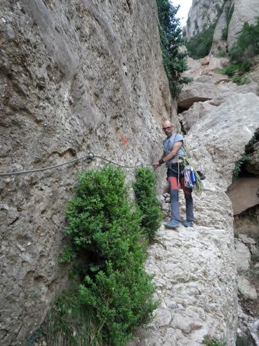 Descendiendo la canal de Sant Jeroni