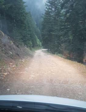 La pista para llegar al refugio de Marialles, un tramo bueno