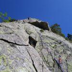 Dani en el tramo de roca curiosa