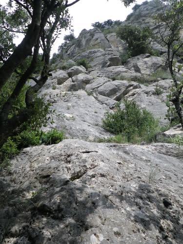 La vista sobre la pared desde pie de vía