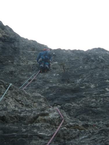 En la parte fina de la escalada