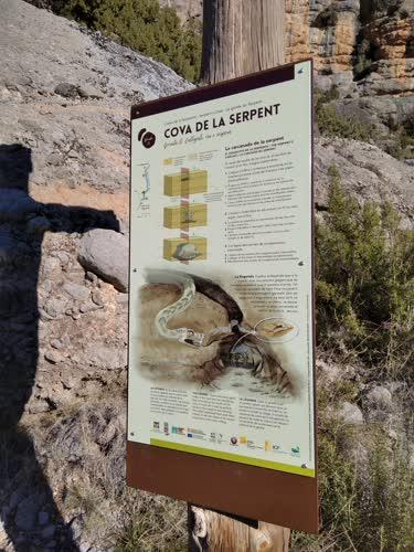 Cartel de cova de la serpent